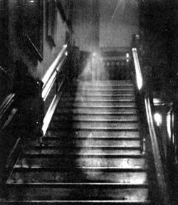 The famous Brown Lady of Raynham Hall (Norfolk) captured in this photo from 1936.