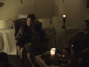 A video still from our second séance.