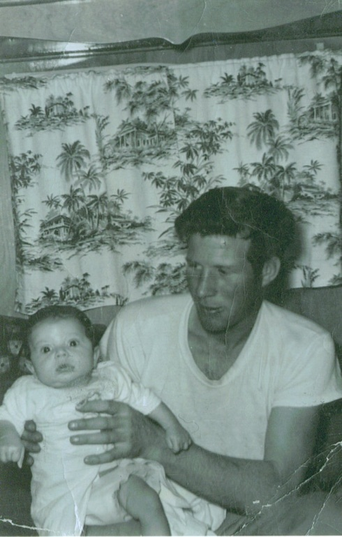 Grandpa Keller holding my dad as a baby.