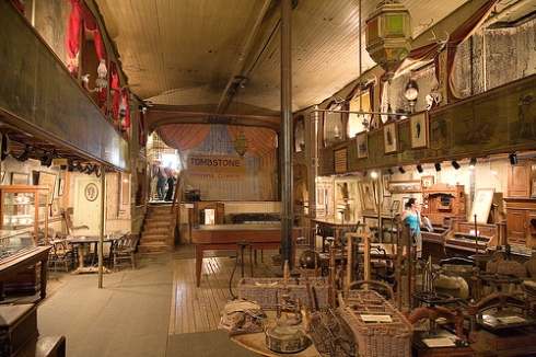 Inside the Bird Cage Theatre, located in Tombstone, AZ Photo courtesy of www.theexpressionist.com