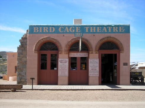 The Bird Cage Theatre, located in Tombstone, AZ. Photo courtesy of www.legendsofamerica.com