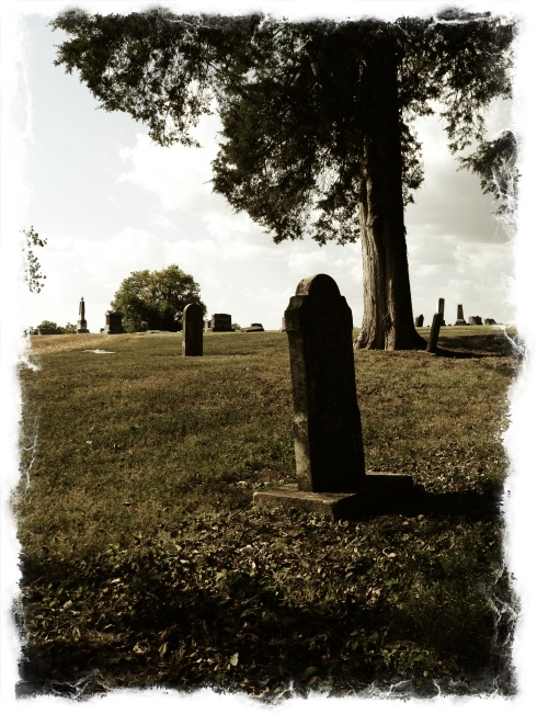 Near the entrance of the older section of Linn Cemetery, Wentzville, Missouri.