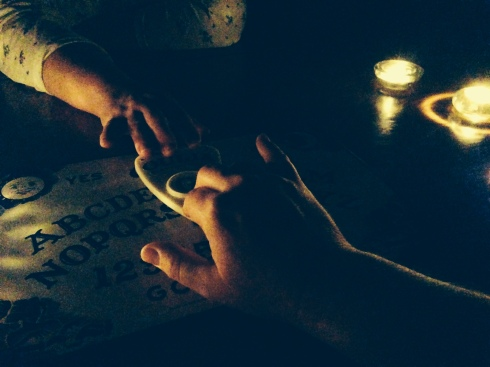 From our 2nd Annual Thanksgiving Ouija Session.