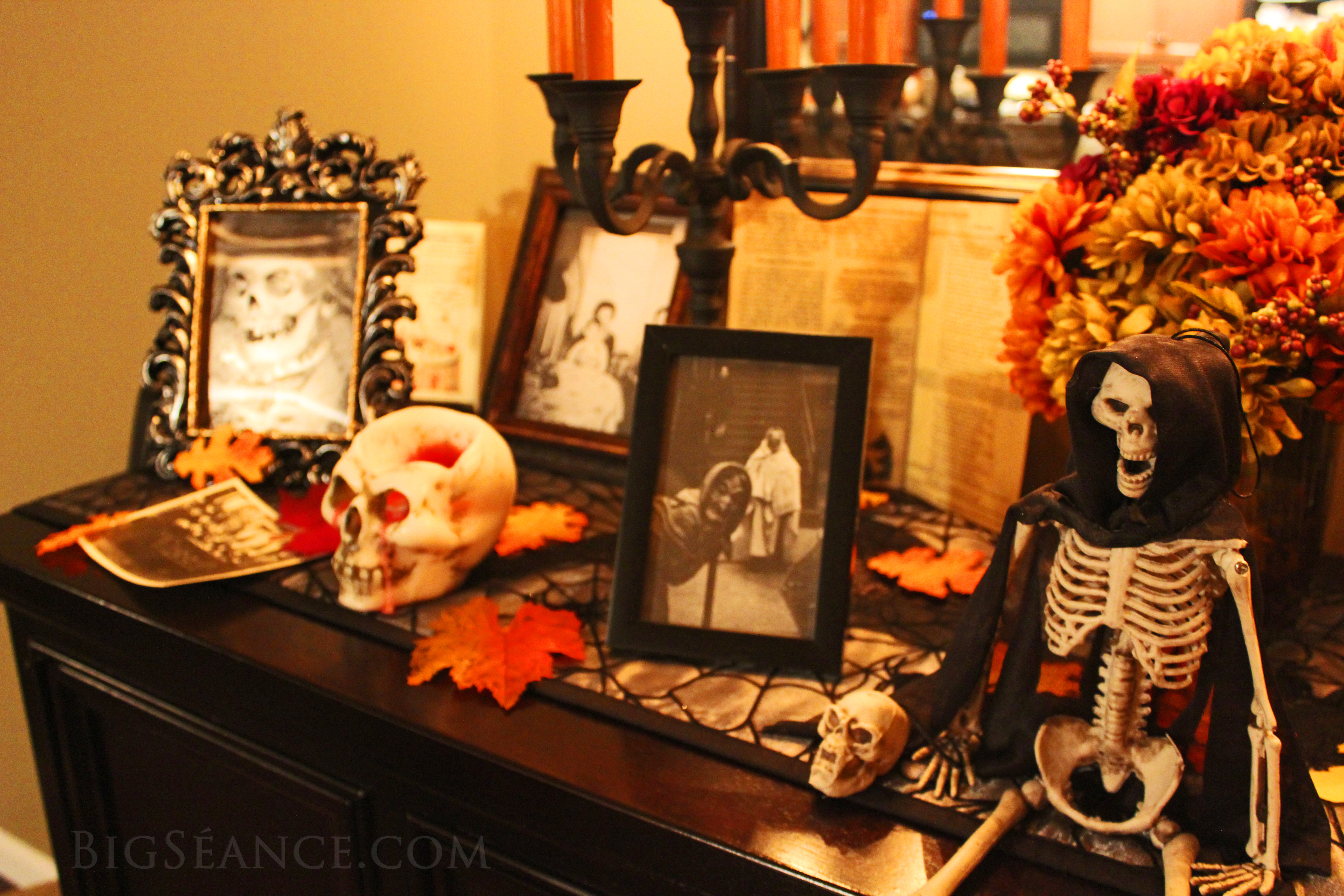 What is a halloween altar the big s ance for Altar decoration