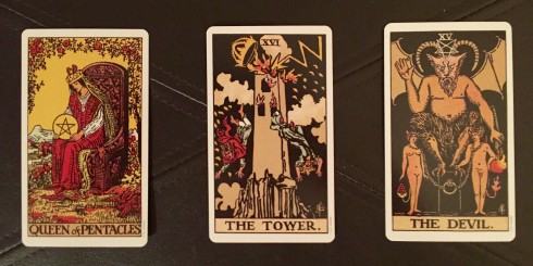 3-card tarot spread for BigSeance.coms 400th post!