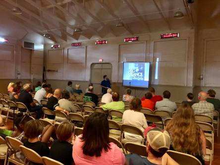 "Patrick Keller of The Big Seance Podcast presenting ""Becoming a Paranerd: A Brief Tour Through My Paranormal World"" at the American Hauntings Fall Festival"